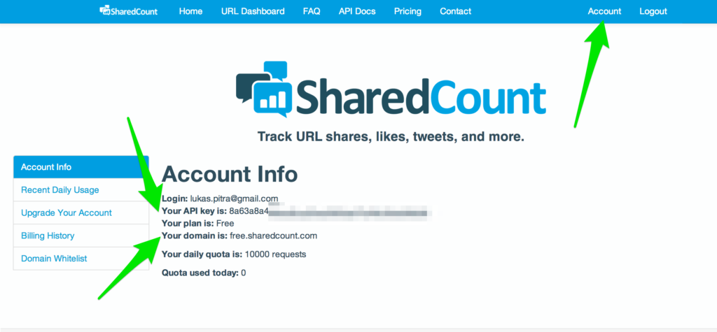 9 Shared Count interface