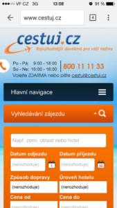 Responzivní web Cestuj.cz