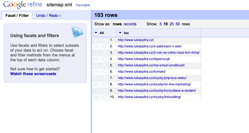 5 finalni export sitemapy